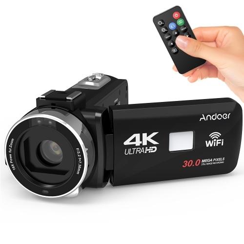 Andoer 4K Ultra HD WiFi Digitalvideokamera Camcorder DV-Recorder