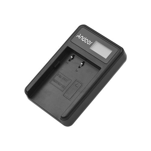 Andoer LCD1-BLF19 LCD Cámara Cargador de batería para Panasonic Lumix GH3 GH4 GH5 DMC-GH3 DMC-GH4 DMC-GH5 Cámara