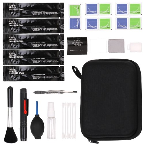 Conceptos básicos Kit de limpieza Accesorios Kit de limpieza para cámaras DSLR y lentes / sensores electrónicos / pantalla LCD sensibles