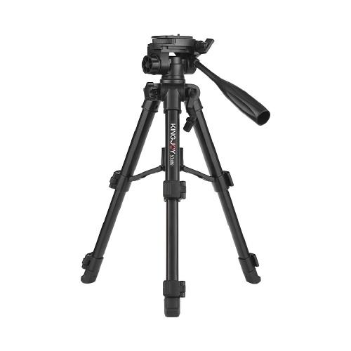 Kingjoy VT-850 28-дюймовый трехсекционный алюминиевый сплав Профессиональный штатив для фотоаппарата Видеосъемка Поддержка DSLR SLR-видеокамеры с сумкой для переноски