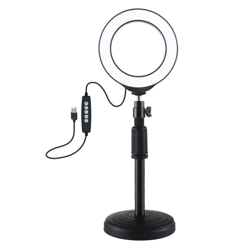 PULUZ 4.7 inch 120mm USB 10 Modes 8 Colors RGBW Adjustable Dimmable LED Round Rings Vlogging Photography Lamp Video Lights