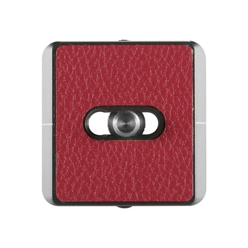 Plateau de dégagement rapide universel ultra-mince de 38 mm avec boucle pour courroie de caméra Clé à vis de caméra amovible pour plaque de démontage rapide pour trépied standard Arca Swiss Standard