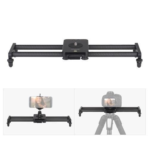 Andoer 40cm / 15inch Curseur de caméra en fibre de carbone