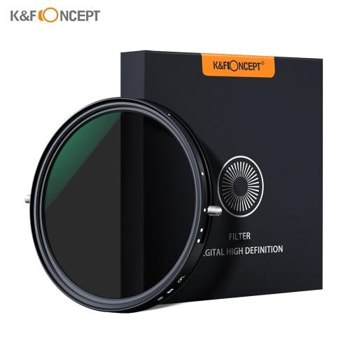K&F CONCEPT 67mm 2-in-1 Variable Adjustable ND Filter Neutral Density Fader