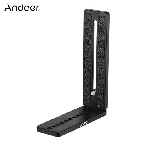 Andoer Aluminium Alloy Universal L-Shape Plate Bracket Camera Holder