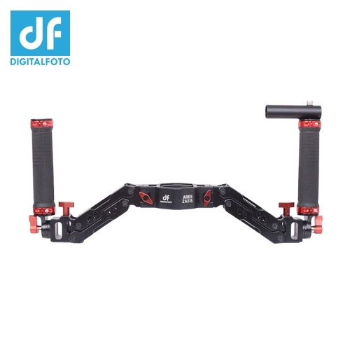 DF DIGITALFOTO ARES Z Axis Gimbal Spring Dual Handle Flexiable Damping Detachable Dual Grip Gimbal Handle