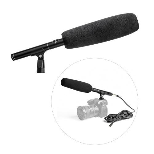 Microphone canon professionnel à condensateur en alliage d'aluminium