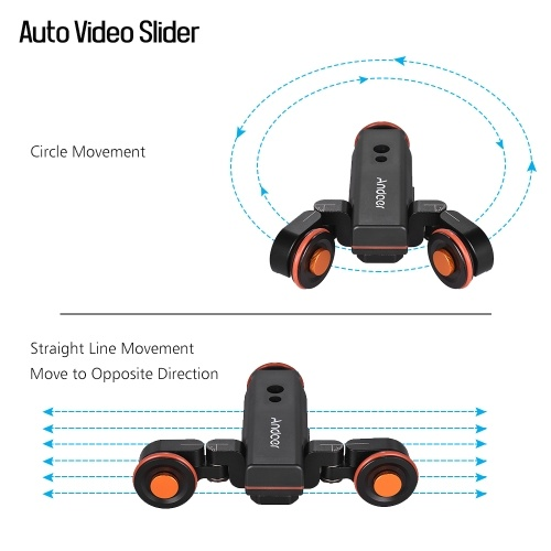Andoer L4 PRO Motorized Camera Video Dolly with Scale Indication Electric Track Slider Wireless Remote Control 3 Speed Adjustable Mini Slider Skater for Canon Nikon Sony DSLR Camera Smartphone + Mini Flexible Ballhead Mount Adapter
