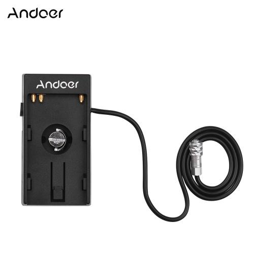 Adaptador de placa de montaje de fuente de alimentación de batería DV de cámara Andoer
