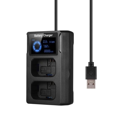 Cargador de batería portátil con cámara USB de doble ranura