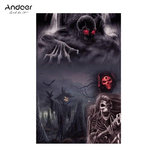 Andoer Halloween Art 1.5 * 2.1meters / 5 * 7feet faltbarer Vinylphotographie-Hintergrund-Hintergrund