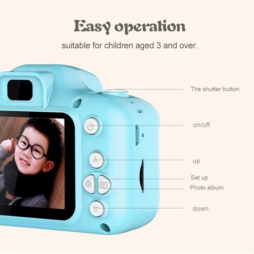 Kids Camera, Andoer Children Digital Cameras 8MP 1080P Digital Video Action Camcorder with 8GB SD Memoery Card 2 inch LCD Screen for Children Kids Gift for Boys and Girls (Green)