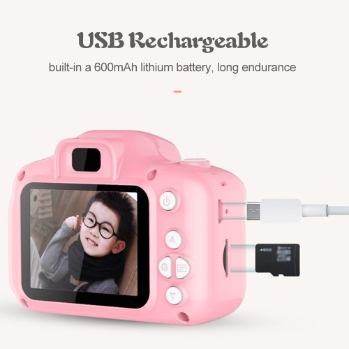 Kids Camera, Andoer Children Digital Cameras 8MP 1080P Digital Video Action Camcorder with 8GB SD Memoery Card 2 inch LCD Screen for Children Kids Gift for Boys and Girls (Pink)