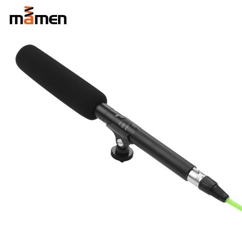 MAMEN KM-M280 Microfone para Entrevista em Vídeo Profissional Microfone Condensador Super Direcional de Alimentação Dupla