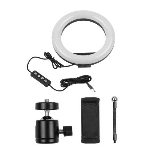 8 Inch LED Ring Light Fill-in Lamp Built-in 72pcs LED Beads 10W Dimmable 2700-5500K Color Temperature