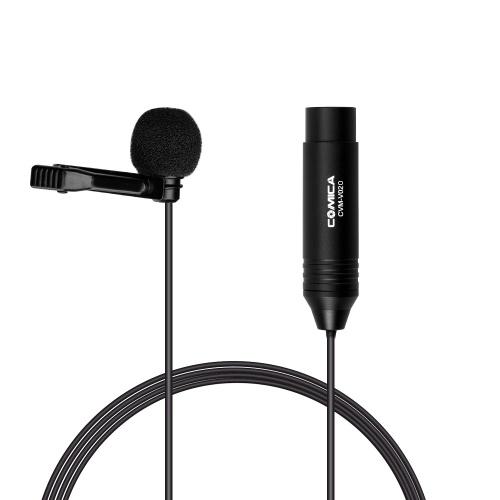 COMICA CVM-V02O Omnidirectional Lavalier Lapel Microphone Condenser Mic 1.8M