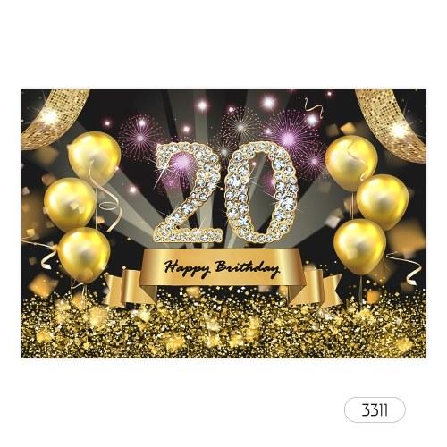 7 * 5ft joyeux anniversaire photo toile de fond adulte anniversaire thème photographie fond