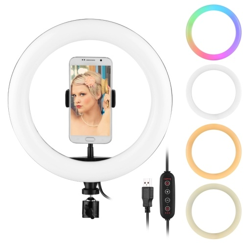 10 Inch RGB Ring Light Colorful LED Photography Lamp