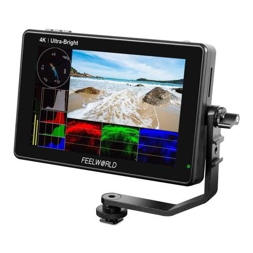 FEELWORLD LUT7 7 polegadas DSLR Camera Field Monitor Monitor de vídeo 3D LUT Touchscreen FHD Resolução