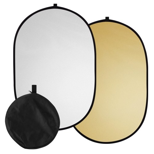 60 * 90cm/ 24 * 35inch Photography Light Reflector 2-in-1(Silver, Gold) Collapsible Portable