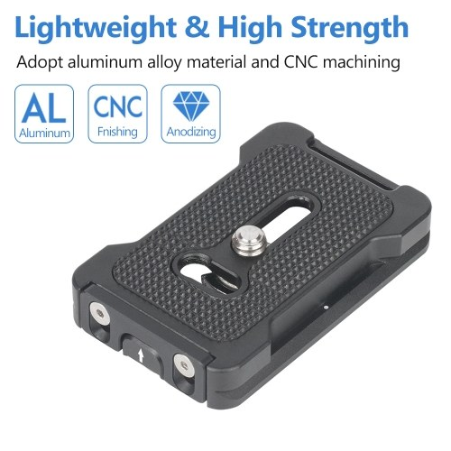 Andoer PU-60L Quick Release Plate 60mm QR Plate 1/4 Inches Mounting Screw