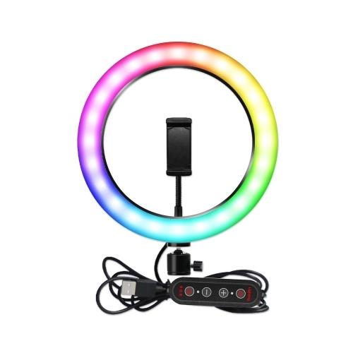 RGB LED-Licht 10 Zoll Ringlicht Ringlicht-Beleuchtungsset Make-up-Licht Einstellbare Farben Farbtemperatur Helligkeit