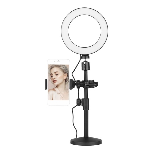 16cm Bi-color Dimmable Tabletop LED Ring Light Kit
