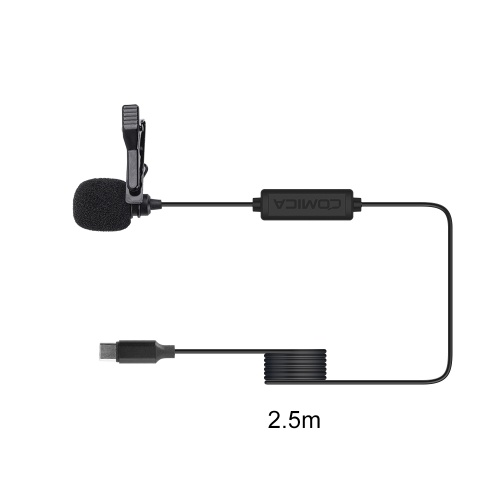 Comica CVM-V01SP(UC) Lavalier Microphone Clip-on Omnidirectional Mic Super Shielding