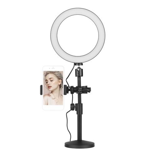 Kit de luz anelar LED bicolor para mesa regulável de 20 cm