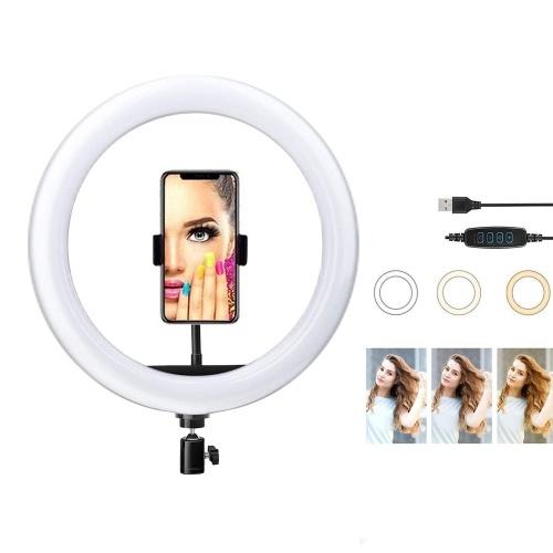 26 cm / 10 pollici LED Video Ring Light Lamp Dimmerabile 3 modalità di illuminazione 2700K-6500K Alimentazione USB