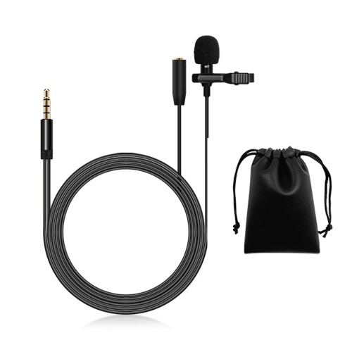 Lavalier Microphone Lapel Clip-on Condenser Mini Mic 3.5mm TRRS Plug for Video Music Interview Recording