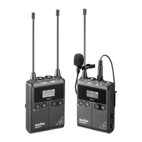Godox WMicS1 kit1 UHF Wireless Microphone System with 1pc TX1 Portable Body-pack Transmitter + 1pc RX1 Portable Receiver