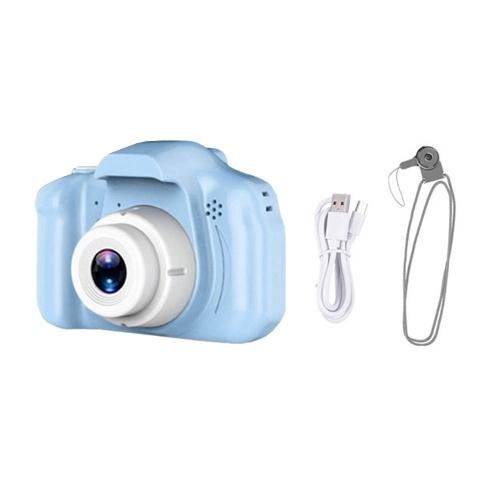 Fotocamera digitale per bambini da 8 MP Videocamera 1080P Videocamera Giocattolo educativo Schermo da 2,0 pollici per ragazze e ragazzi Batteria incorporata con cinturino Cavo di ricarica Risoluzione normale Rosa
