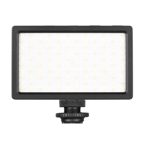 LIYADI LED Video Light Panel On-Camera 3200K-5600K Lampada dimmerabile Luminosità regolabile Luce flash