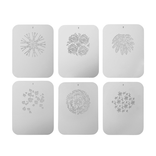 6pcs/set Gobos Graphics Cards Metal Plates with Hollow Patterns for Optical Snoot Conical Focalize Condenser Art Special Effects Shaped Beam Light Photography Light Accessories