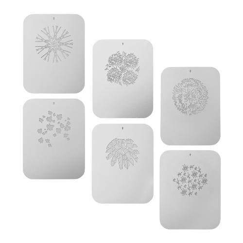 6 pièces / ensemble cartes graphiques Gobos plaques métalliques avec des motifs creux pour snoot optique conique focaliser condensateur art effets spéciaux en forme de faisceau lumière photographie accessoires de lumière