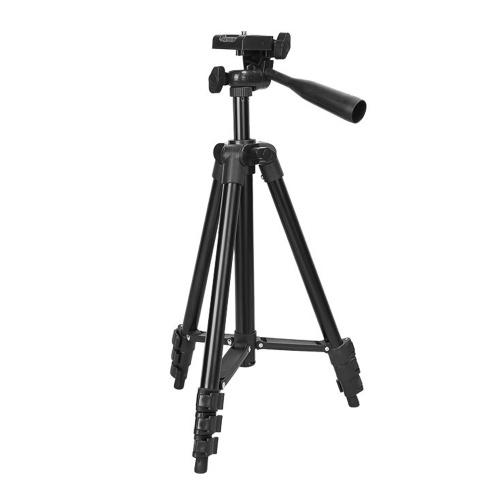 Leichtes Stativ, einstellbar in 5 Höhenstufen mit Kugelkopf-Schnellwechselplatte für Fotografie Live-Streaming Selfie 110CM