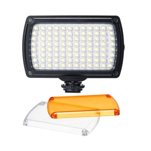 Lampada per fotografia fotografica dimmerabile con luce video a LED portatile con supporto per scarpe per riprese video