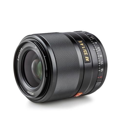 Objectif de caméra à mise au point automatique Viltrox AF33 / 1.4E 33 mm