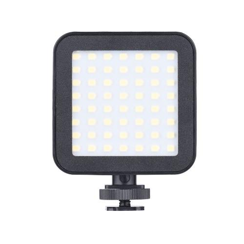 Mini vidéo LED photographie lumière 5.5W sur-caméra lumière de remplissage avec supports de chaussures froides pour caméscopes en direct vidéo de prise de vue vidéo en direct