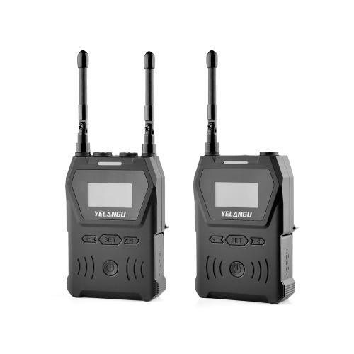 YELANGU MX4 One-Trigger-One UHF Dual-Channel Wireless Microphone System