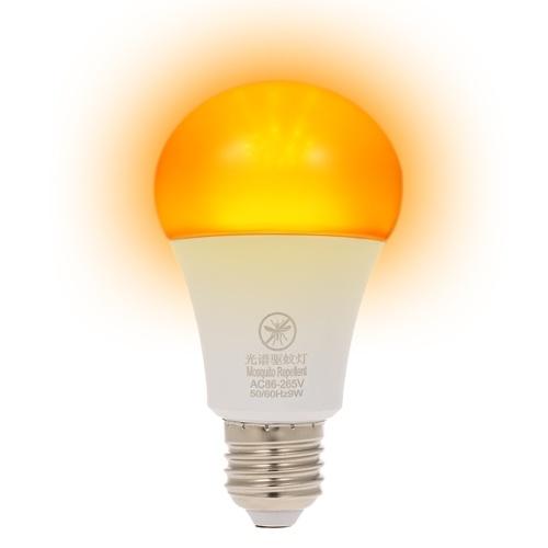 Ampoule LED jaune anti-moustiques, non-lumière bleue