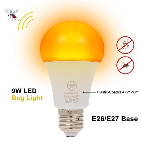 Yellow LED Bug Light Bulb No Blue Light Mosquito Repellent Light Bulb