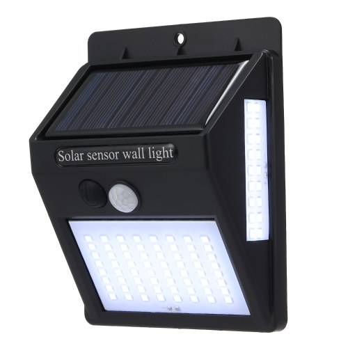 LED Solar Light Sensor Wall Lights 100pcs LED Beads IP65 Waterproof Solar Powered PIR Motion Sensor Energy Saving Night Lights for Garden Yard Path Fence Patio Driveway