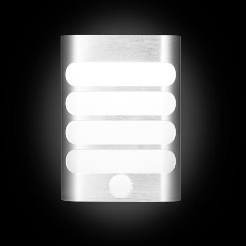 Le capteur de mouvement de la lampe de nuit LED de lampe de mur de PIR allume la lumière de mur de LED activée par mouvement