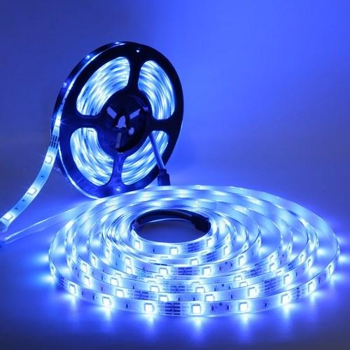 1M 30LEDs 5050 RGB LED Kit de lumières de bande télécommande changeante de couleur bande lumineuse étanche pour la décoration de la maison de barre