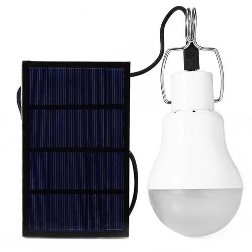 Lâmpada de energia solar LED lâmpada com painel solar design de gancho pendurado