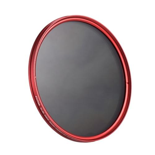 FOTGA 82mm Slim ND Fader Variabler Filter Neutral Density ND2 bis ND400 Rot Ersatz für Canon Nikon DSLR Kamera