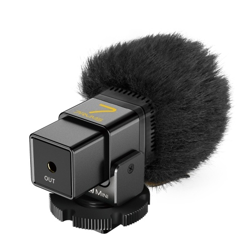 7RYMS MinBo Mini Cardioid Condenser Microphone On-Camera Mic Plug-and-Play 3.5mm Interface for Camera Smartphone Vlog Live Streaming Video Conference Online Teaching