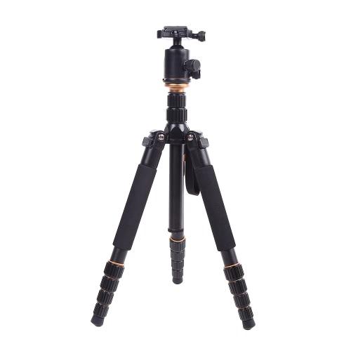 Andoer Aluminium télescopique Portable pliable en alliage trépied Unipod monopode avec rotule pour Canon Nikon Sony DSLR Camera